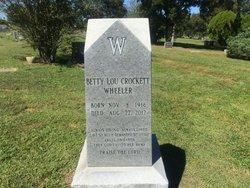 Betty Lou <I>Crockett</I> Wheeler