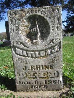 Matilda Jane <I>Arnott</I> Rhine
