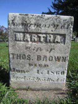 Martha <I>Marshall</I> Brown