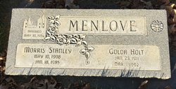 Golda <I>Holt</I> Menlove