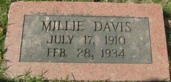 Millie Irine <I>Yarbrough</I> Davis