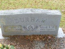 Ollie <I>Shumate</I> Durham