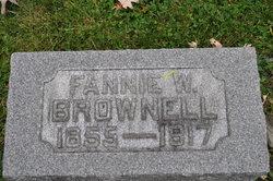 "Frances ""Fannie"" <I>Wilson</I> Brownell"