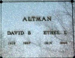 Ethel Lavonia <I>Saxon</I> Altman
