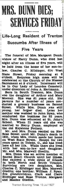 Margaret A. <I>Mooney</I> Dunn