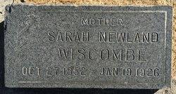 Sarah <I>Newland</I> Wiscombe