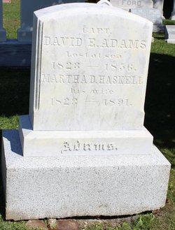 Martha Doe <I>Haskell</I> Adams