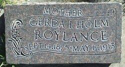 Gerda <I>Holmes</I> Roylance
