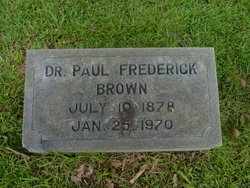 Dr Paul Frederick Brown