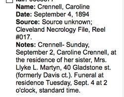 "Caroline ""Carrie"" Crennell"