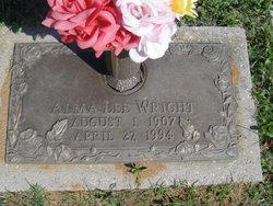 Alma <I>Lee</I> Wright