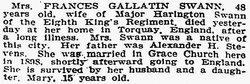 Frances <I>Gallatin</I> Swann