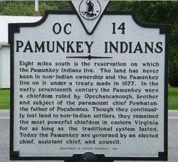 "Chief Opechancanough Mangopeesomon ""Eagle Plume"" Powhatan"
