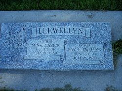 Mina <I>Cazier</I> Llewellyn