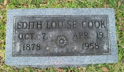 Edith Louise <I>Thom</I> Cook