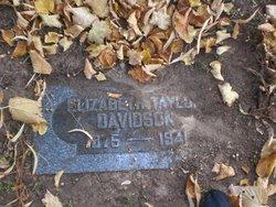 Elizabeth <I>Taylor</I> Davidson