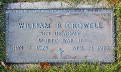 Sgt William R. Crowell