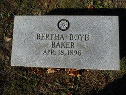 Bertha Jane <I>Boyd</I> Baker