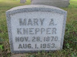 Mary A <I>Hunker</I> Knepper