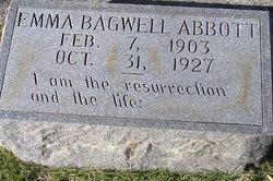 Emma <I>Bagwell</I> Abbott