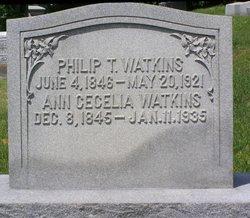 Ann Cecelia <I>Woolfolk</I> Watkins