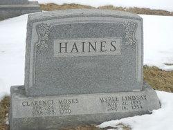 Myrle Lindsay <I>Barnes</I> Haines