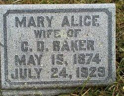 """Mary Alice """"Mollie"""" <I>Kern</I> Baker"""