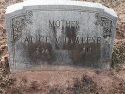 Alice V <I>Sanders</I> Deweese