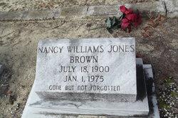 Nancy Frances <I>Williams Jones</I> Brown