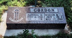 Patricia Mary <I>Durrenberger</I> Gordon