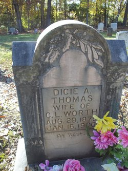 Dicie A. <I>Thomas</I> Worth