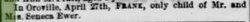 "Frank Seneca ""Frederick"" Ewer"