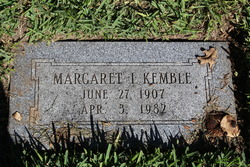 Margaret I Kemble