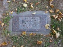 Melba Mary <I>Carman</I> Henderson