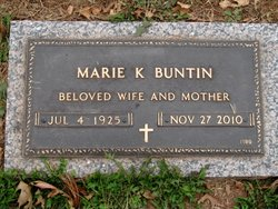 Marie K <I>Melcher</I> Buntin