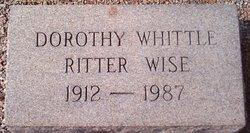 Dorothy Ruth <I>Whittle</I> Wise