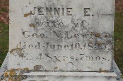 Jennie E <I>Partridge</I> Lewis