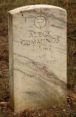 Pvt Aleck Cummings