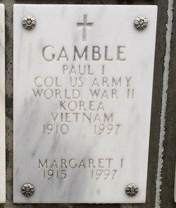 Margaret I Gamble