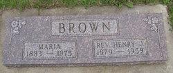 Rev Henry J. Brown