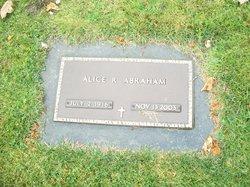 Alice Ruth <I>Hansen</I> Abraham