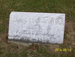 Clarissa E. <I>Carpenter</I> Ballard