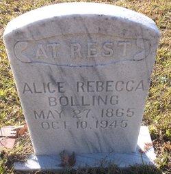 Alice Rebecca <I>Morrow</I> Bolling