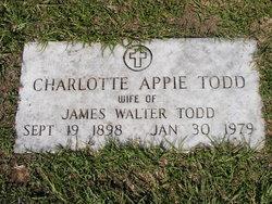 Charlotte Appie <I>Todd</I> Todd
