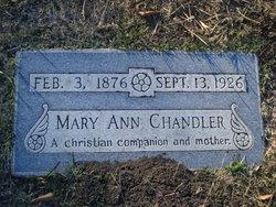Mary Ann <I>Walker</I> Chandler