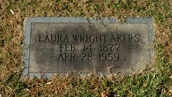 Laura <I>Wright</I> Akers