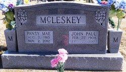 Pansy Mae <I>McLemore</I> McLeskey