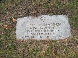 Pvt John William Madden