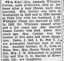 Sarah Amanda <I>Welch</I> Whitaker-Cottier