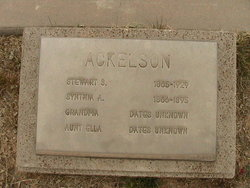 Synthia Ann <I>Miller</I> Ackelson